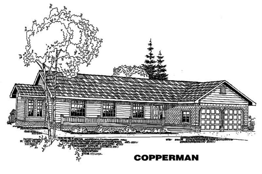 Ranch home (ThePlanCollection: Plan #145-1583)