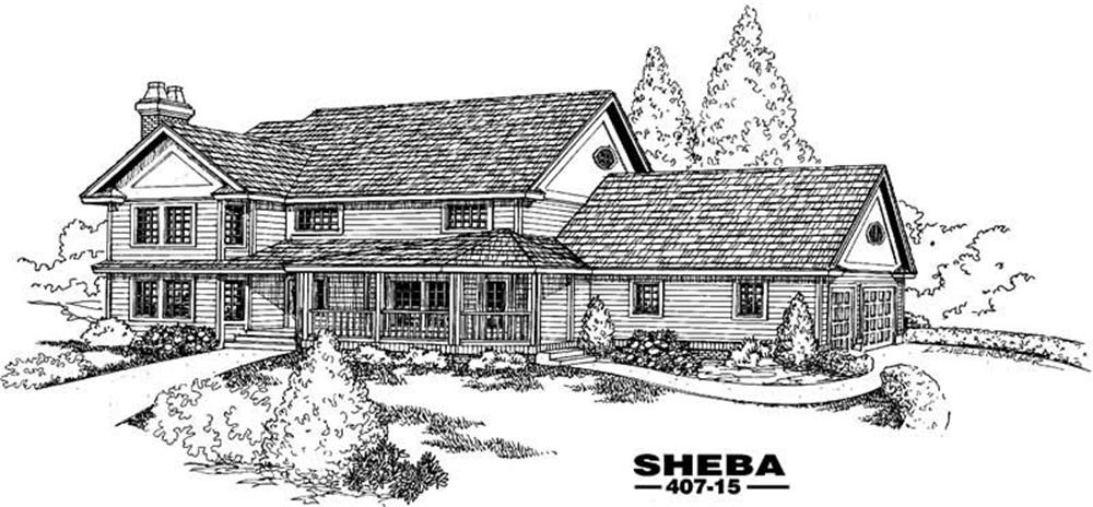 Contemporary home (ThePlanCollection: Plan #145-1585)