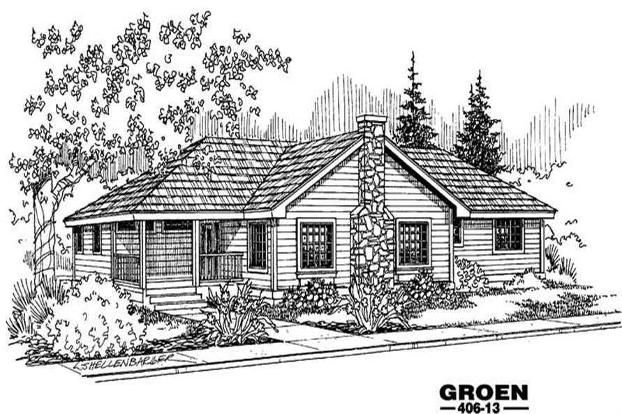 4-Bedroom, 2064 Sq Ft Country Home Plan - 145-1586 - Main Exterior