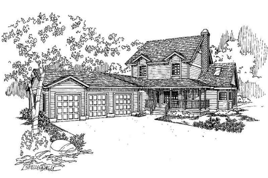 3-Bedroom, 2170 Sq Ft Country Home Plan - 145-1589 - Main Exterior