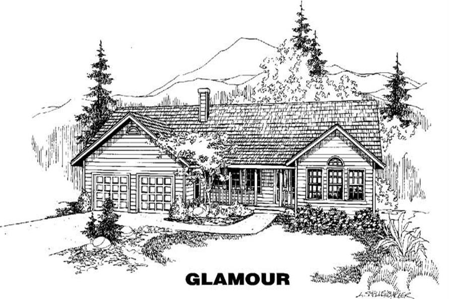 4-Bedroom, 2045 Sq Ft Country House Plan - 145-1590 - Front Exterior