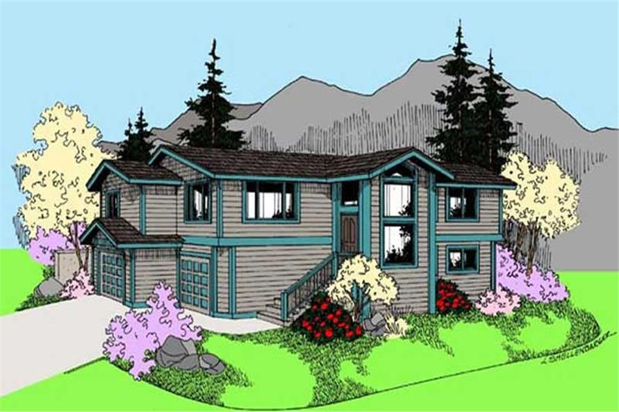 3-Bedroom, 2237 Sq Ft Contemporary Home Plan - 145-1592 - Main Exterior