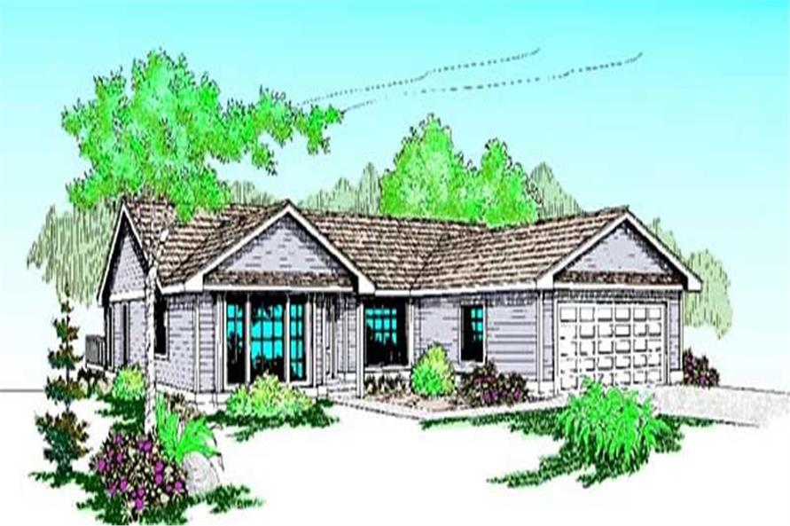 3-Bedroom, 1777 Sq Ft Luxury Home Plan - 145-1593 - Main Exterior