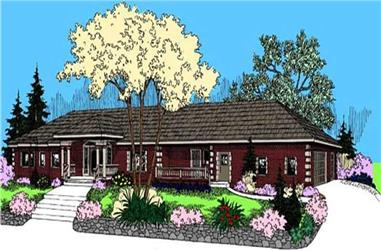 3-Bedroom, 3230 Sq Ft Contemporary House Plan - 145-1596 - Front Exterior