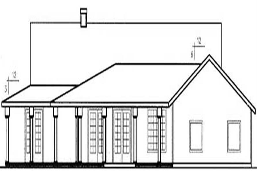 Home Plan Rear Elevation of this 3-Bedroom,3128 Sq Ft Plan -145-1597