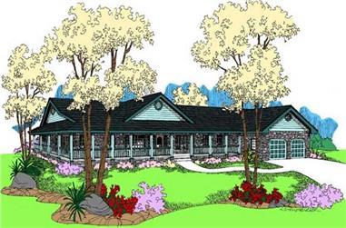 3-Bedroom, 2246 Sq Ft Farmhouse Home Plan - 145-1598 - Main Exterior