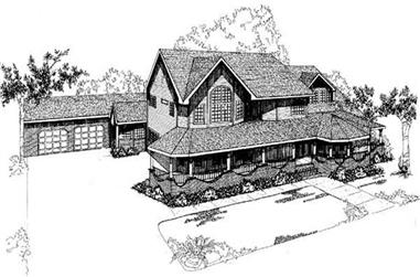 4-Bedroom, 3986 Sq Ft Country Home Plan - 145-1601 - Main Exterior