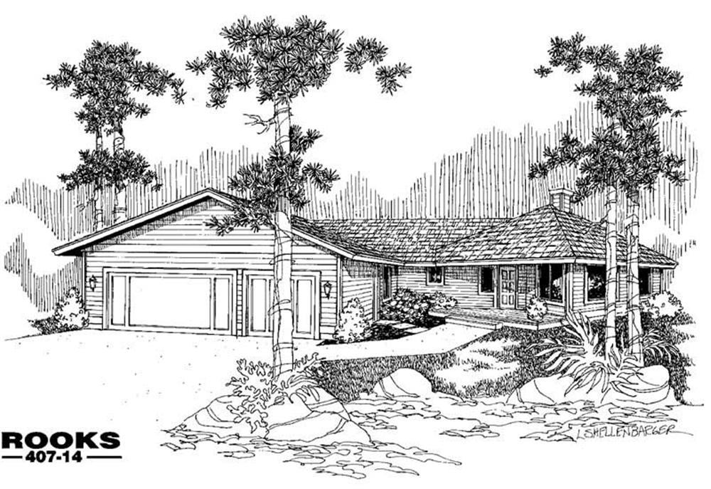 Country home (ThePlanCollection: Plan #145-1602)