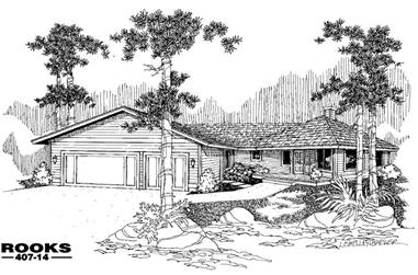 3-Bedroom, 2187 Sq Ft Country Home Plan - 145-1602 - Main Exterior