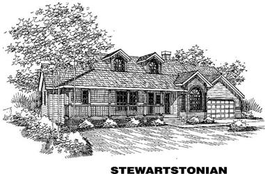 4-Bedroom, 2418 Sq Ft House Plan - 145-1609 - Front Exterior