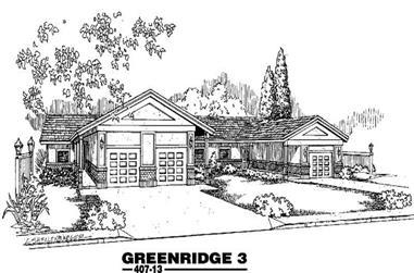 6-Bedroom, 3719 Sq Ft Home Plan - 145-1611 - Main Exterior