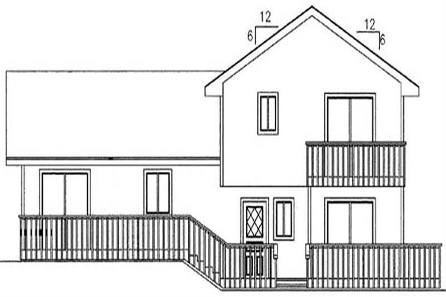 Home Plan Rear Elevation of this 3-Bedroom,1744 Sq Ft Plan -145-1614
