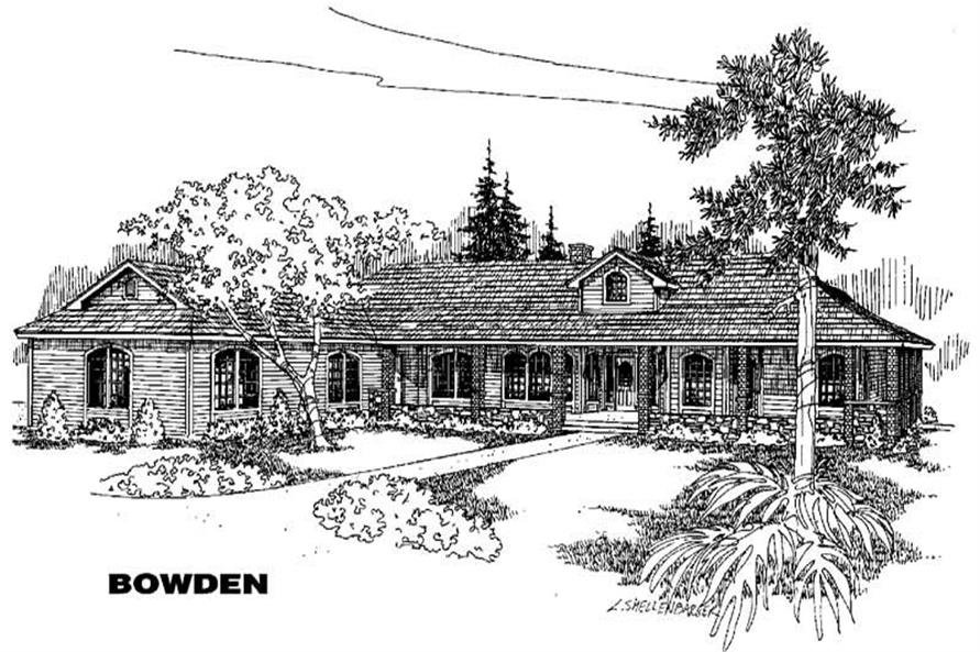 5-Bedroom, 3600 Sq Ft Home Plan - 145-1615 - Main Exterior
