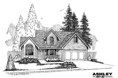 4-Bedroom, 1958 Sq Ft Farmhouse Home Plan - 145-1617 - Main Exterior