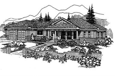4-Bedroom, 2300 Sq Ft Colonial House Plan - 145-1618 - Front Exterior
