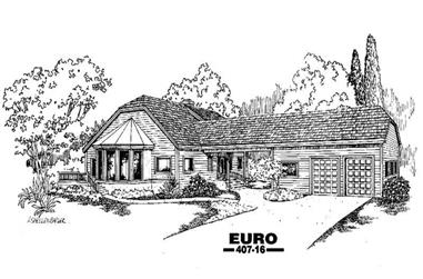 3-Bedroom, 3323 Sq Ft Contemporary Home Plan - 145-1619 - Main Exterior