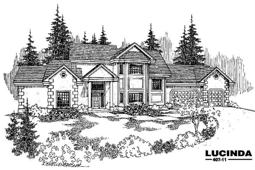 5-Bedroom, 2719 Sq Ft Mediterranean Home Plan - 145-1621 - Main Exterior