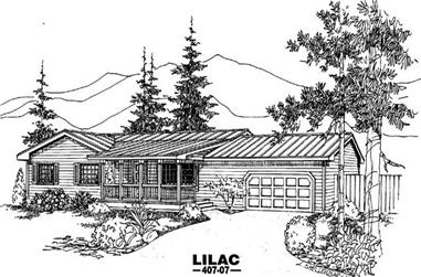 3-Bedroom, 1376 Sq Ft Country Home Plan - 145-1623 - Main Exterior