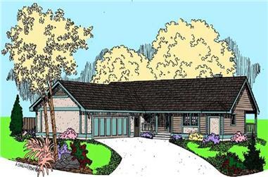 2-Bedroom, 1486 Sq Ft Ranch Home Plan - 145-1626 - Main Exterior