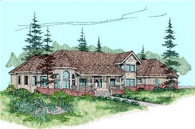 4-Bedroom, 3570 Sq Ft Contemporary Home Plan - 145-1633 - Main Exterior