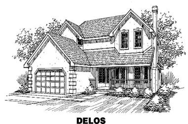 4-Bedroom, 3039 Sq Ft Ranch House Plan - 145-1638 - Front Exterior