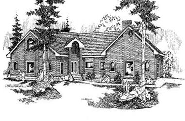 4-Bedroom, 4043 Sq Ft Colonial House Plan - 145-1641 - Front Exterior