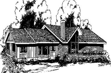 3-Bedroom, 1657 Sq Ft Contemporary House Plan - 145-1646 - Front Exterior
