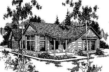 3-Bedroom, 1643 Sq Ft Ranch House Plan - 145-1648 - Front Exterior