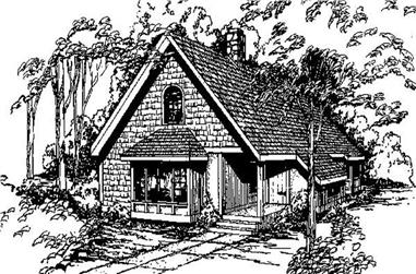 3-Bedroom, 1691 Sq Ft Log Cabin House Plan - 145-1651 - Front Exterior