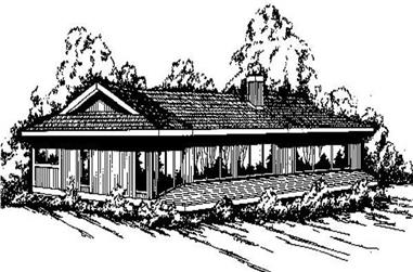 2-Bedroom, 1401 Sq Ft Ranch House Plan - 145-1652 - Front Exterior