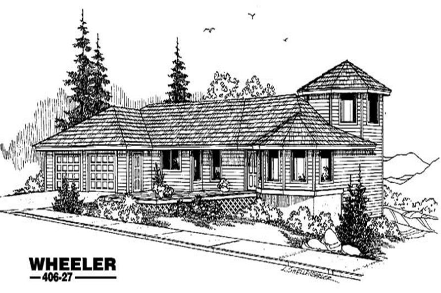 4-Bedroom, 1760 Sq Ft Contemporary Home Plan - 145-1655 - Main Exterior