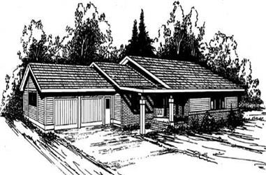 3-Bedroom, 1570 Sq Ft Ranch House Plan - 145-1657 - Front Exterior
