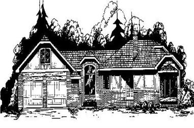 2-Bedroom, 1711 Sq Ft Ranch House Plan - 145-1658 - Front Exterior