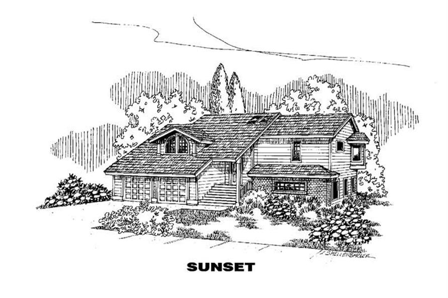 3-Bedroom, 2492 Sq Ft Country Home Plan - 145-1664 - Main Exterior