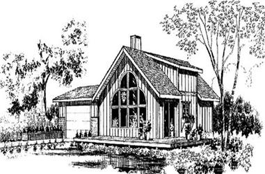 3-Bedroom, 1374 Sq Ft Small House Plans - 145-1666 - Main Exterior