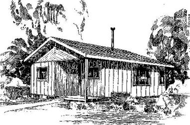 2-Bedroom, 1168 Sq Ft Log Cabin Home Plan - 145-1667 - Main Exterior