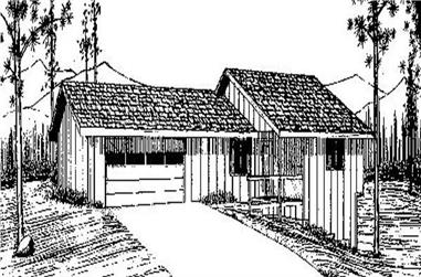 3-Bedroom, 2040 Sq Ft Contemporary Home Plan - 145-1669 - Main Exterior