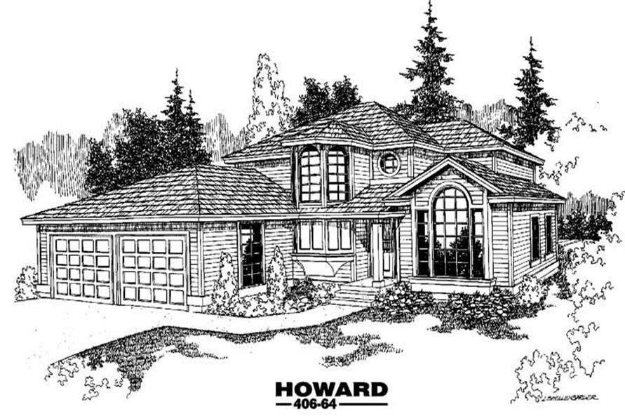 4-Bedroom, 3154 Sq Ft Home Plan - 145-1670 - Main Exterior