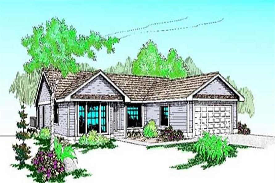 3-Bedroom, 1777 Sq Ft Ranch Home Plan - 145-1671 - Main Exterior