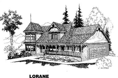4-Bedroom, 2765 Sq Ft Country Home Plan - 145-1672 - Main Exterior