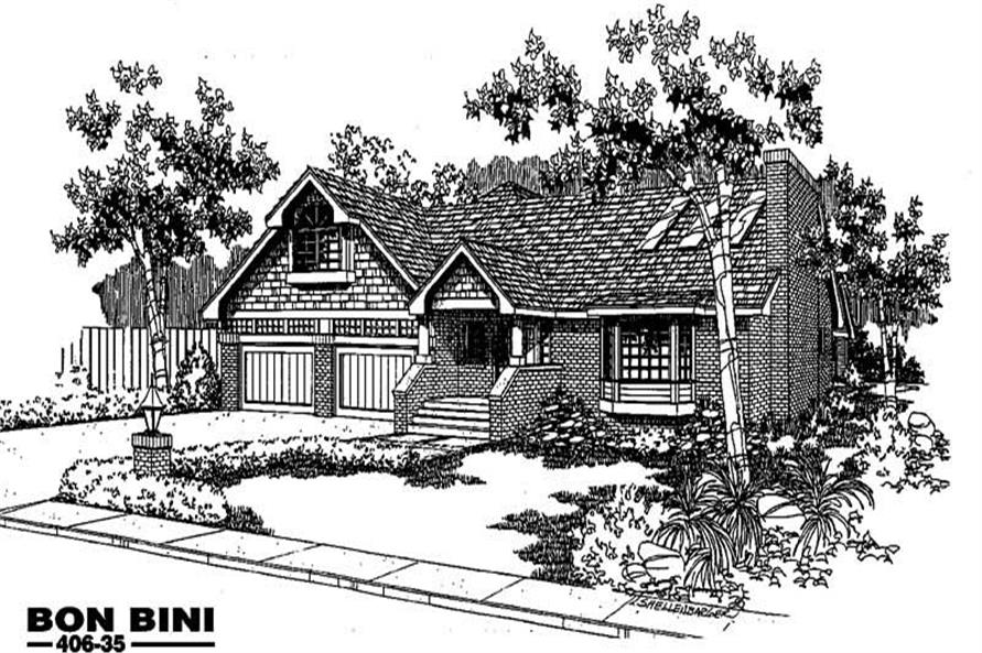 3-Bedroom, 1650 Sq Ft Contemporary Home Plan - 145-1676 - Main Exterior