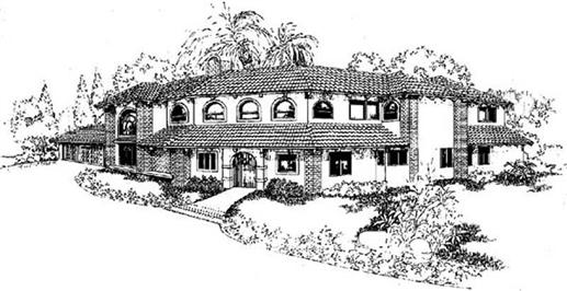 Southwest homeplans rendering.