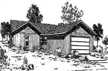 3-Bedroom, 1582 Sq Ft Ranch House Plan - 145-1680 - Front Exterior