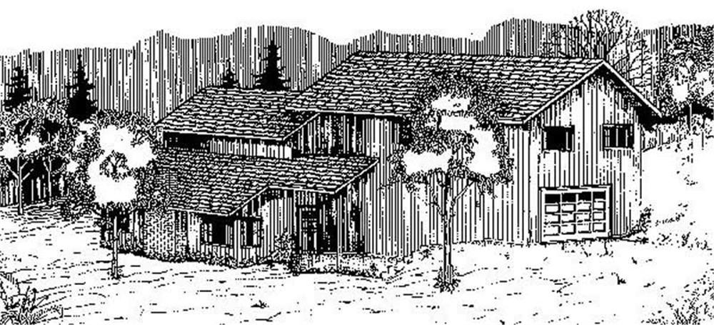 Traditional home (ThePlanCollection: Plan #145-1681)
