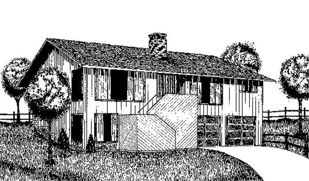 Farmhouse home (ThePlanCollection: Plan #145-1690)