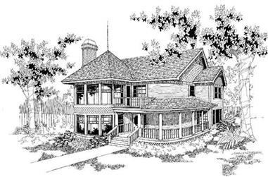 3-Bedroom, 2129 Sq Ft Victorian Home Plan - 145-1692 - Main Exterior