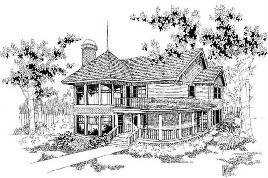 Front View of this house plans