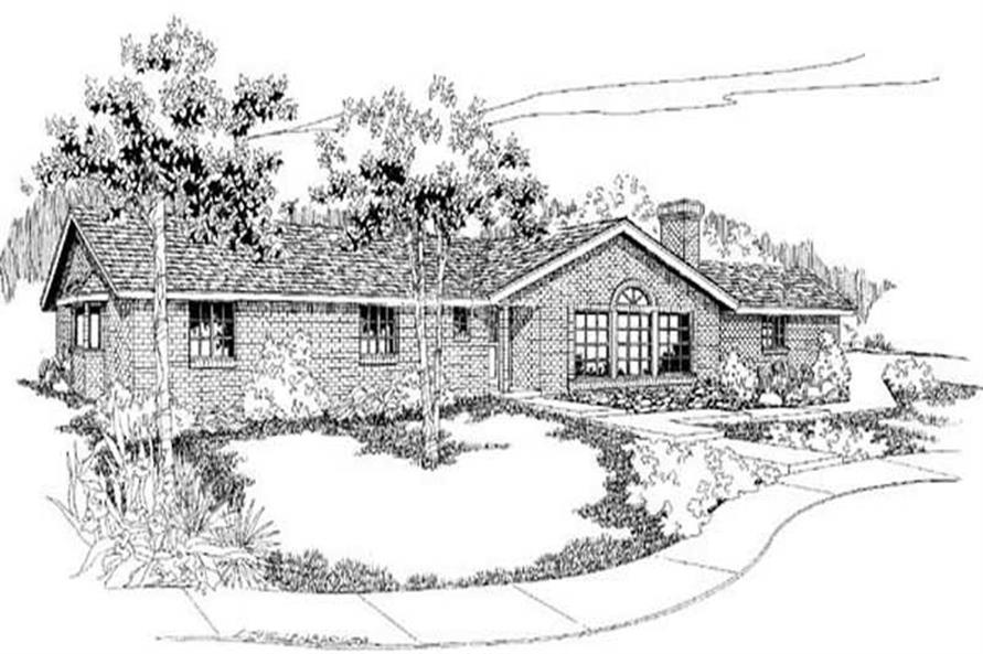 3-Bedroom, 1713 Sq Ft Ranch Home Plan - 145-1694 - Main Exterior