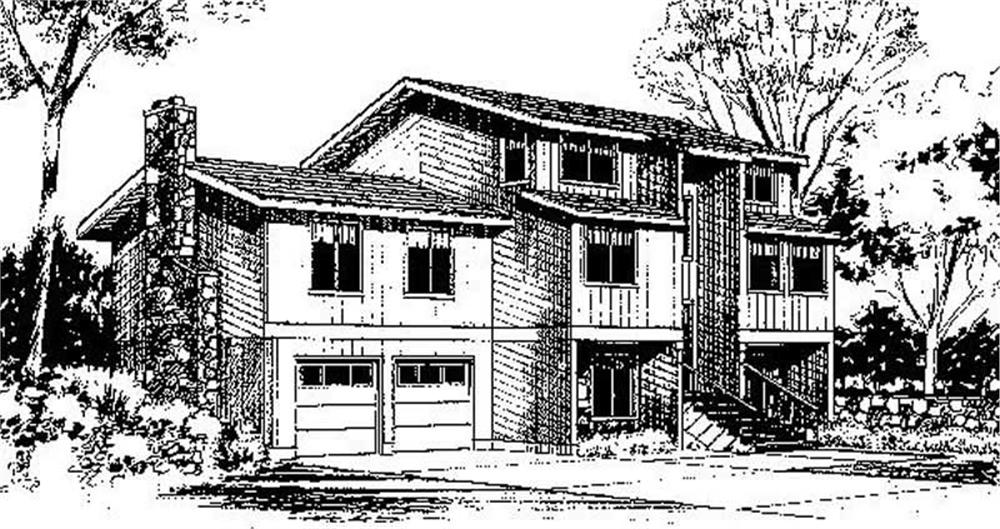 Multi-Level home (ThePlanCollection: Plan #145-1698)
