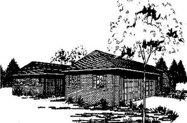 3-Bedroom, 1963 Sq Ft Ranch House Plan - 145-1699 - Front Exterior